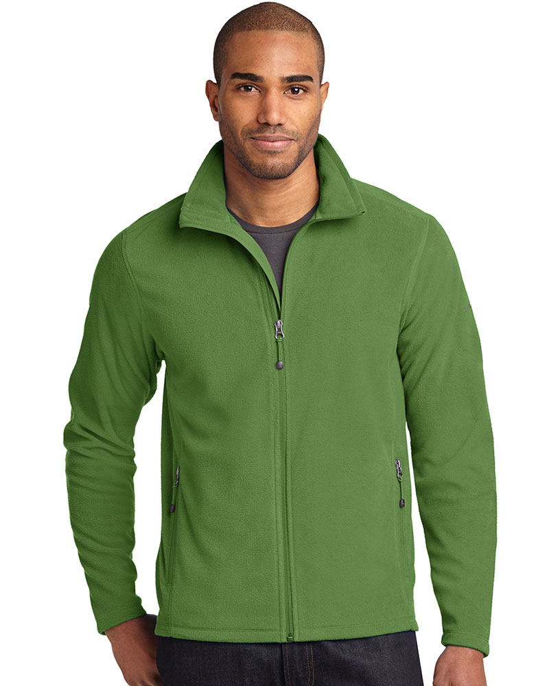 Eddie Bauer  Embroidered Men's Full-Zip Microfleece Jacket