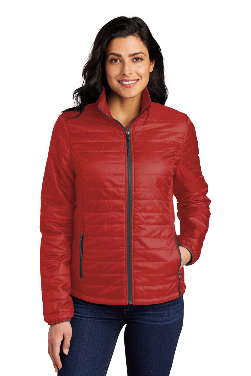 Port Authority Embroidered Women's Packable Puffy Jacket
