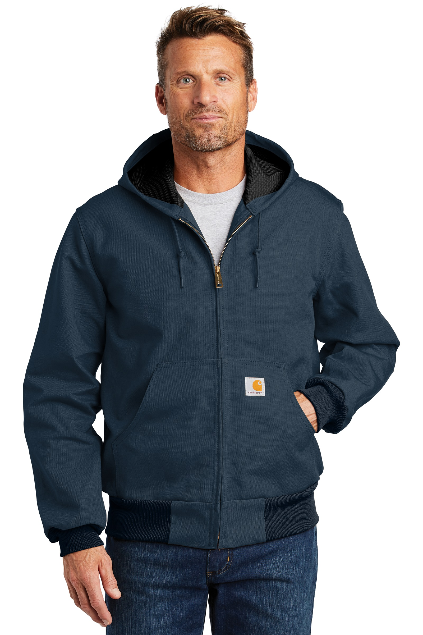 Carhartt Embroidered Men's Thermal-Lined Duck Active Jacket