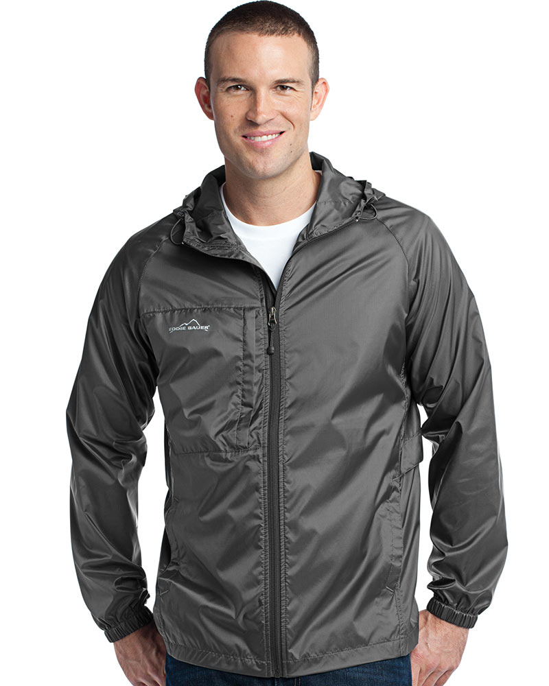 Eddie Bauer  Embroidered Men's Packable Shell Jacket