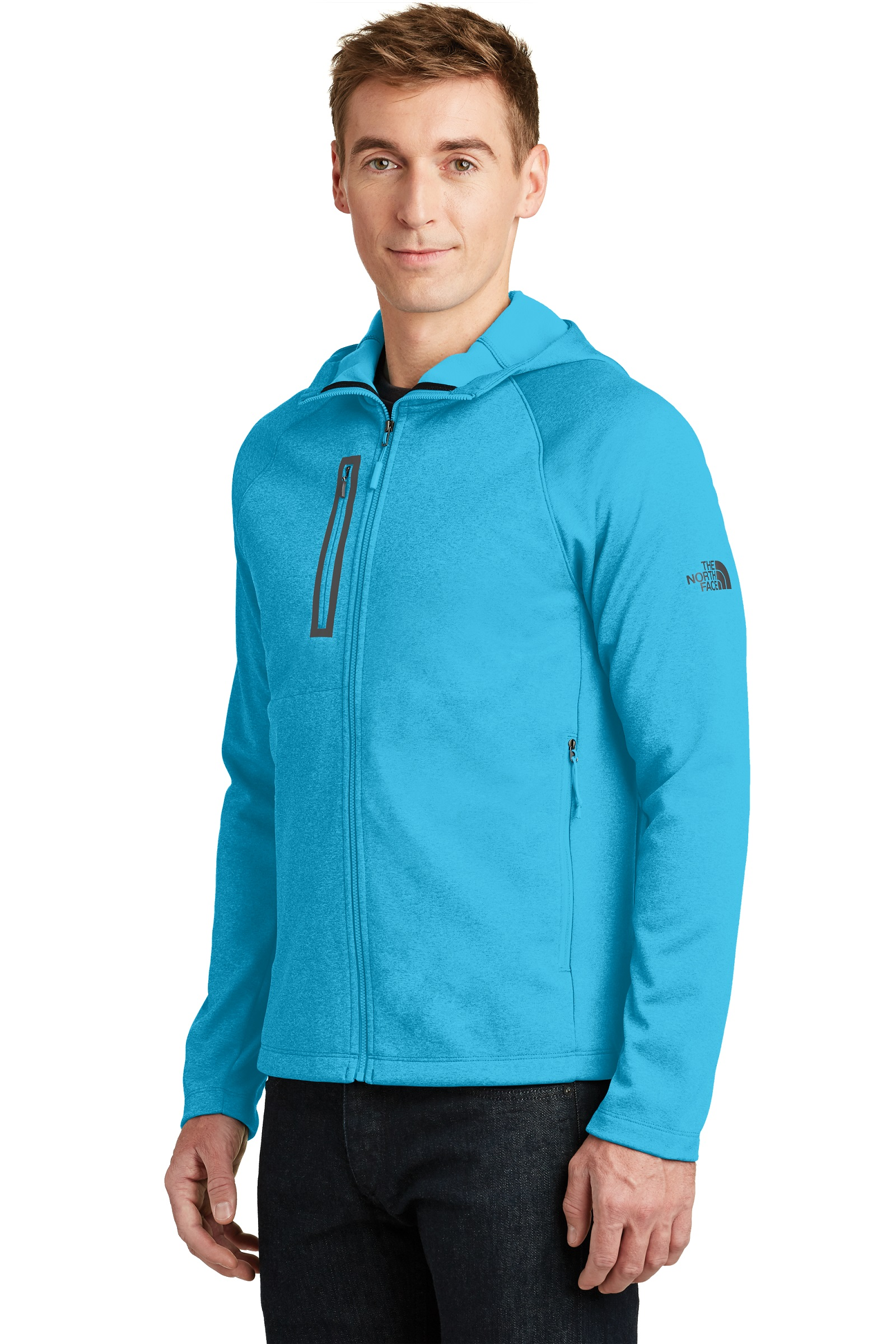 The North Face  Embroidered Men's Canyon Flats Fleece Hooded Jacket