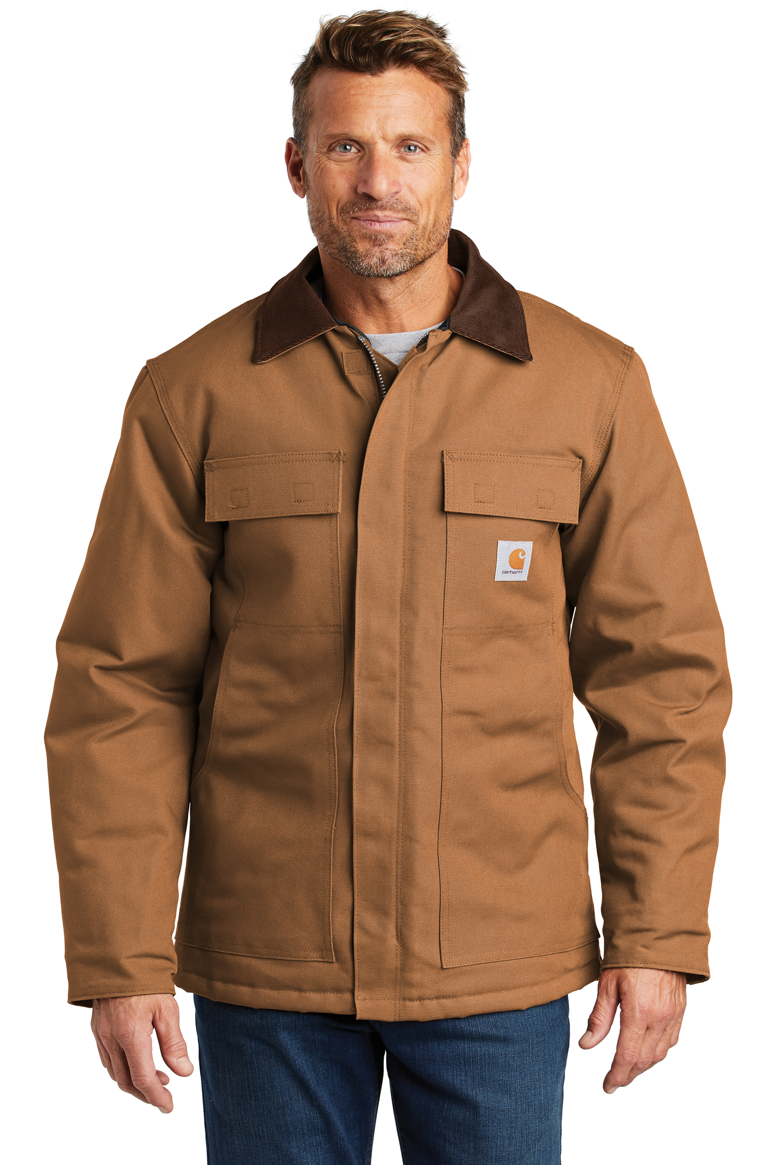 Carhartt Embroidered Men's Duck Traditional Coat