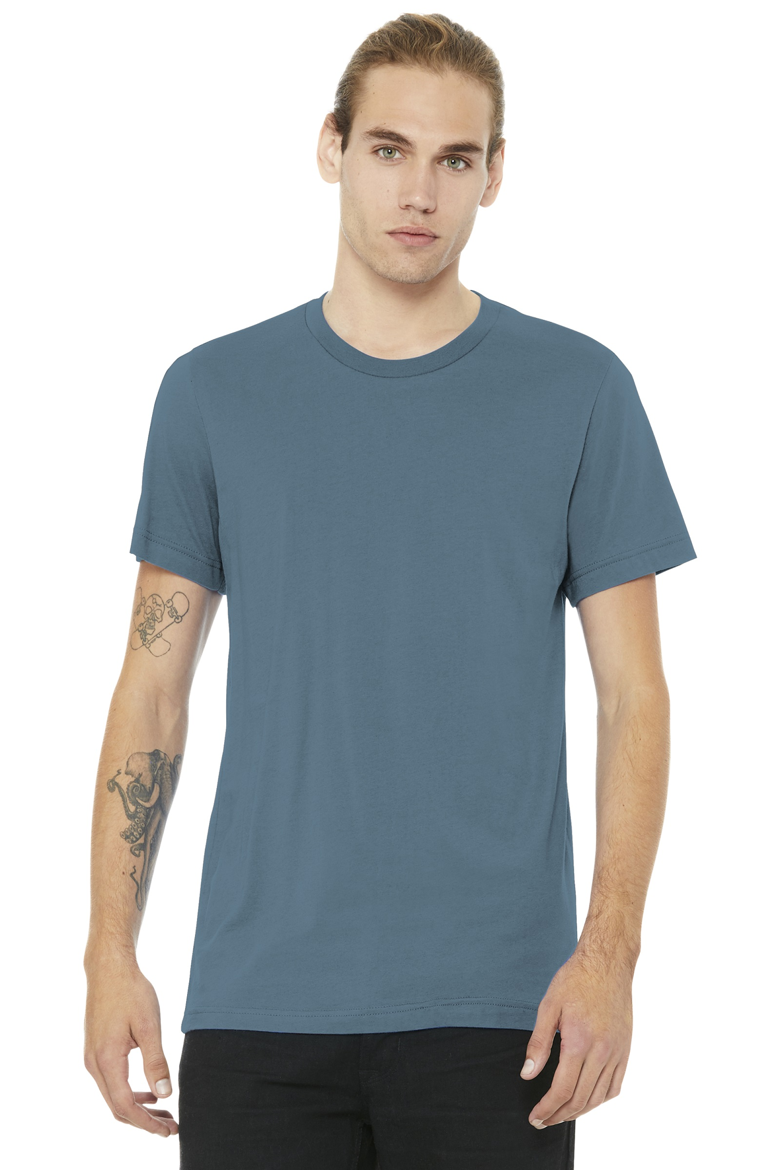 Bella + Canvas Embroidered Men's Ringspun Cotton T-Shirt