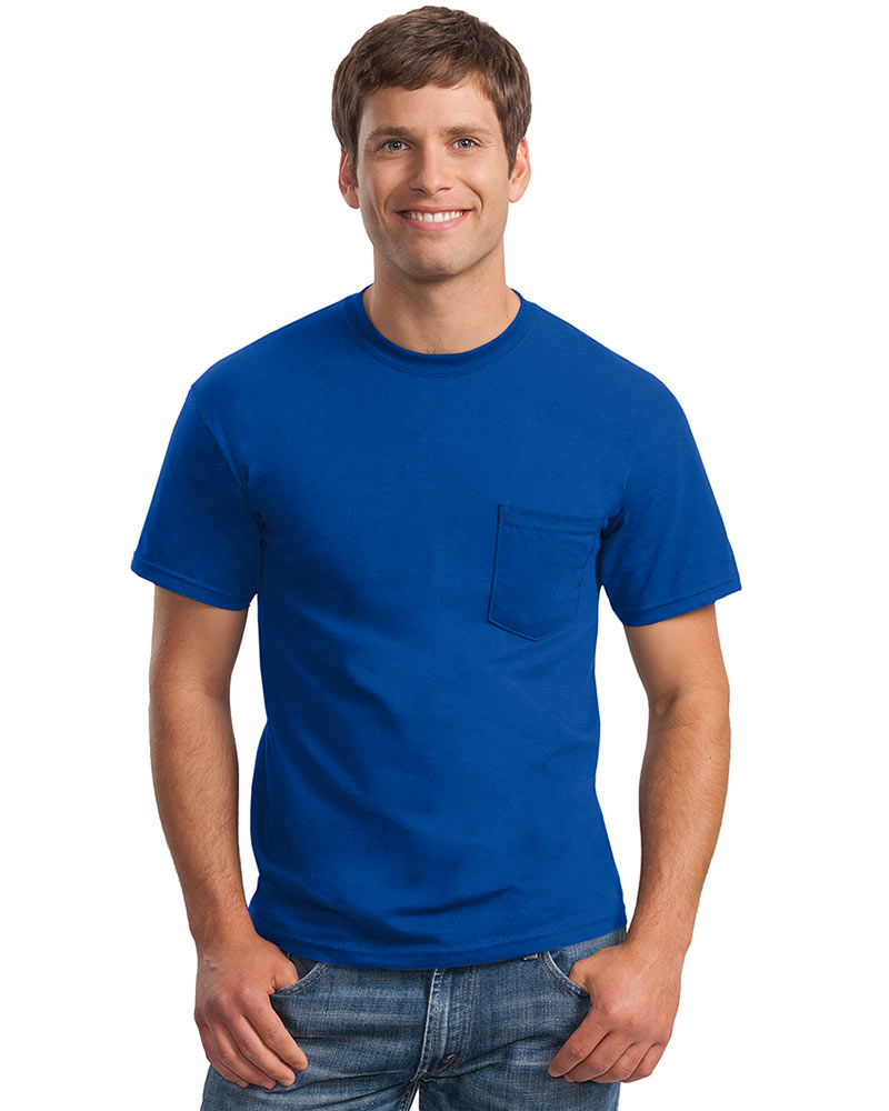 Gildan Embroidered Men's Classic Pocket Tee