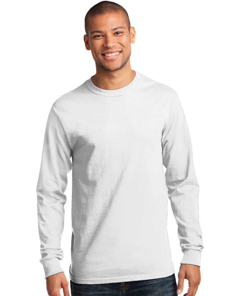 Gildan Men's Embroidered Classic Ultra Cotton Long Sleeve Tee