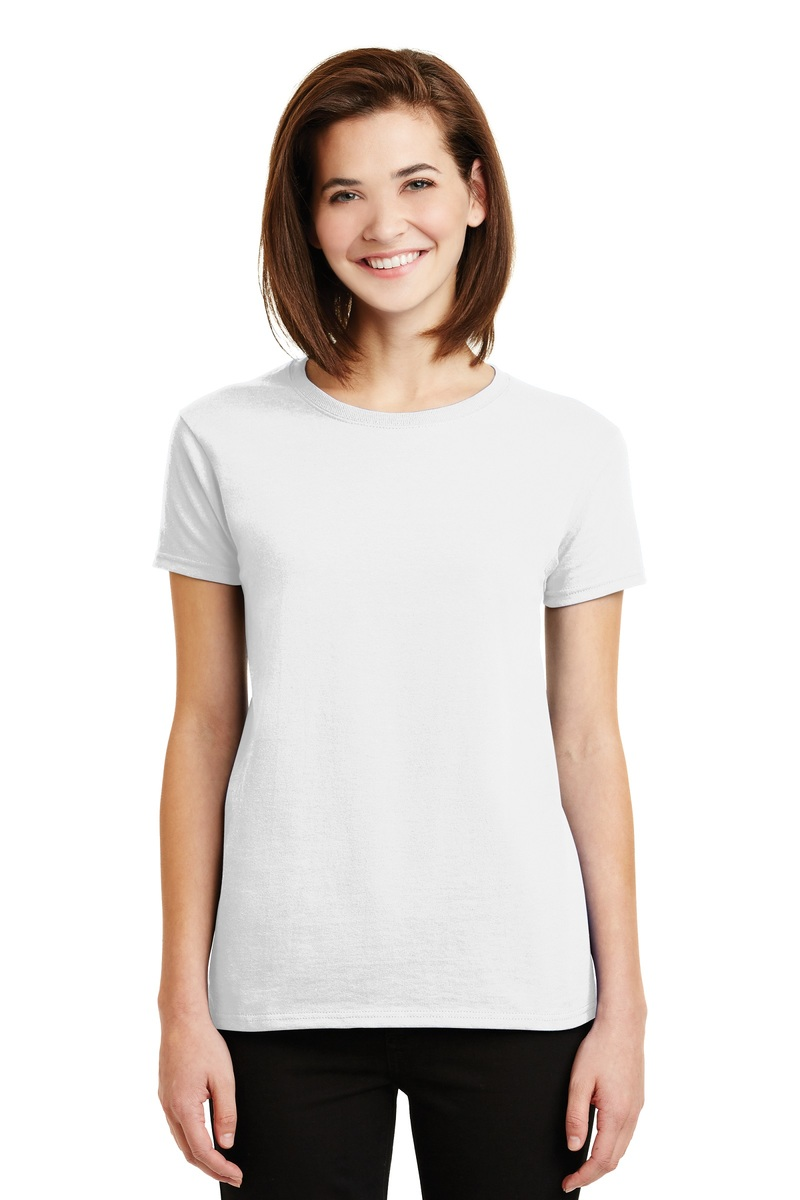 Gildan Printed Ladies Ultra Cotton Tee - Single Color Logo