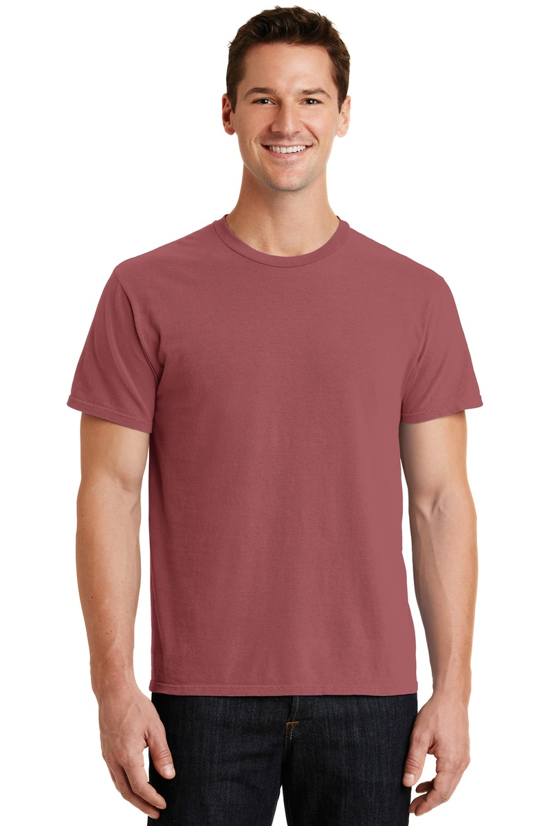 Port & Company Embroidered Men's Essential Pigment-Dyed Tee