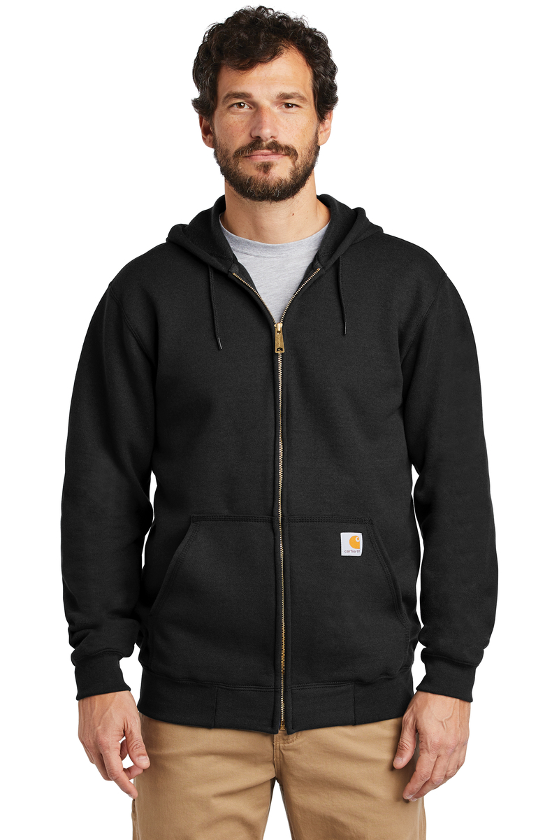 Carhartt Embroidered Men's Midweight Hooded Zip-Front Sweatshirt