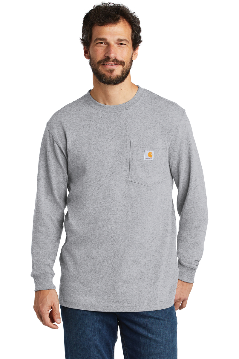 Carhartt Embroidered Men's Workwear Pocket Long Sleeve T-Shirt