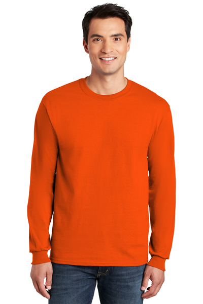 Gildan Printed Men's Classic Ultra Cotton Long Sleeve Safety Tee