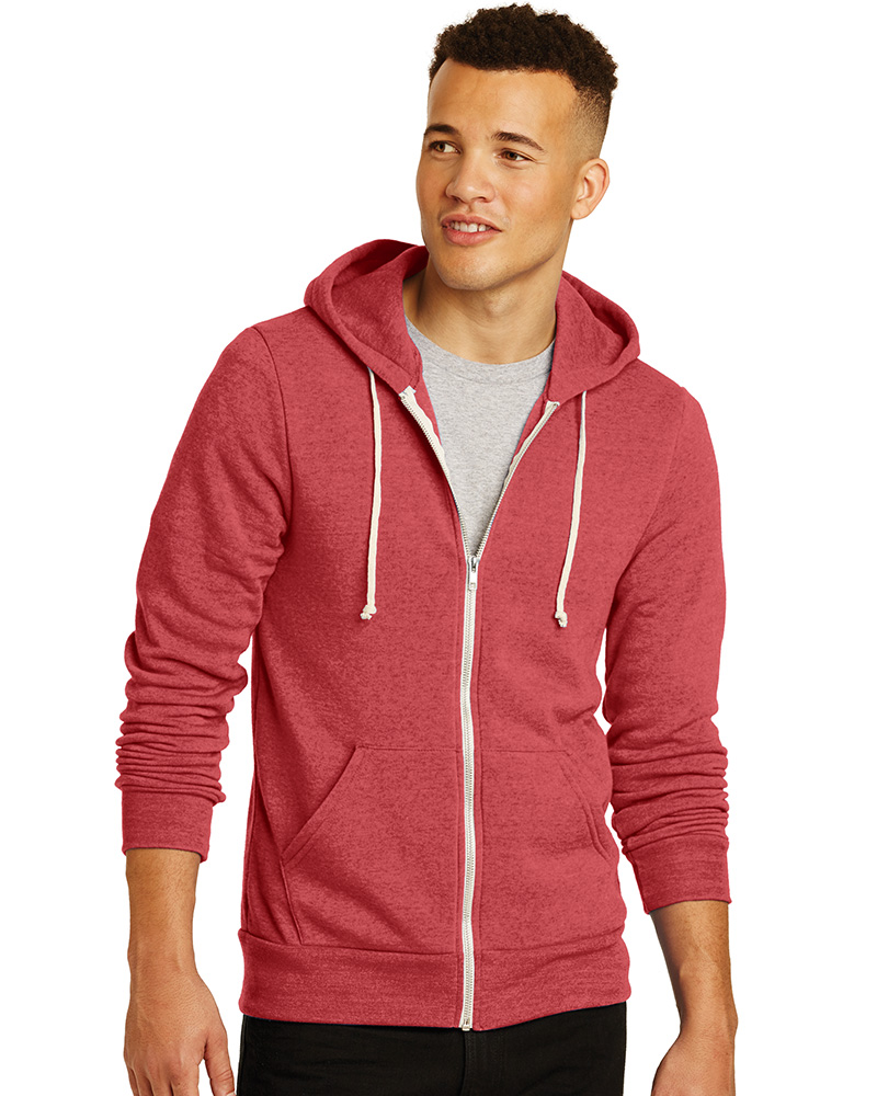 Alternative Printed  Men's Rocky Eco-Fleece Zip Hoodie
