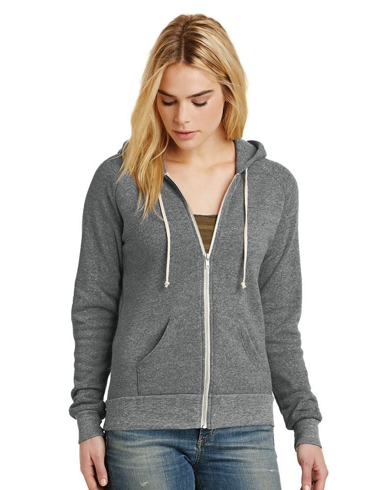 Alternative Embroidered Women's Adrian Eco-Fleece Zip Hoodie