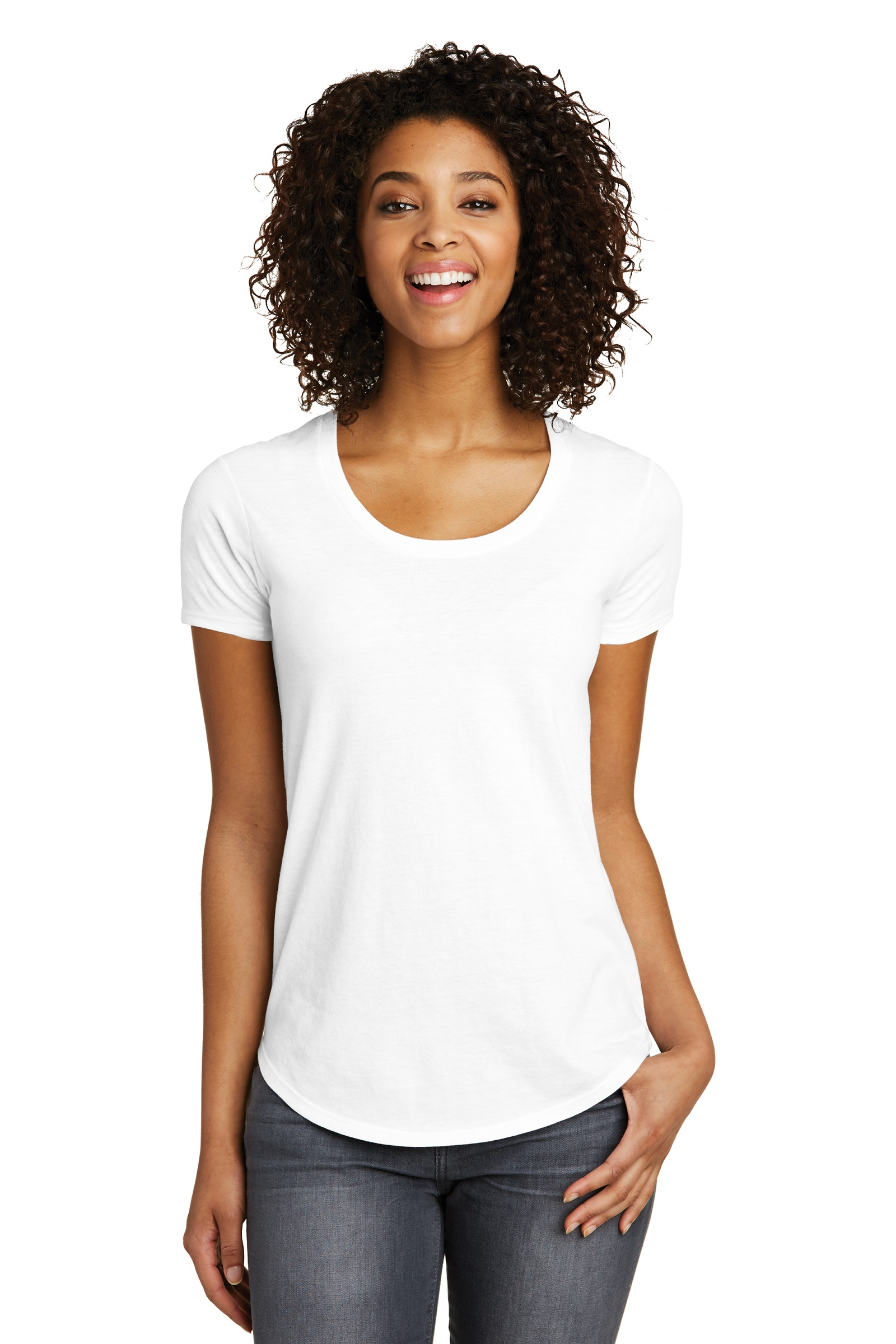 District Printed  Women's Scoop Neck Very Important Tee