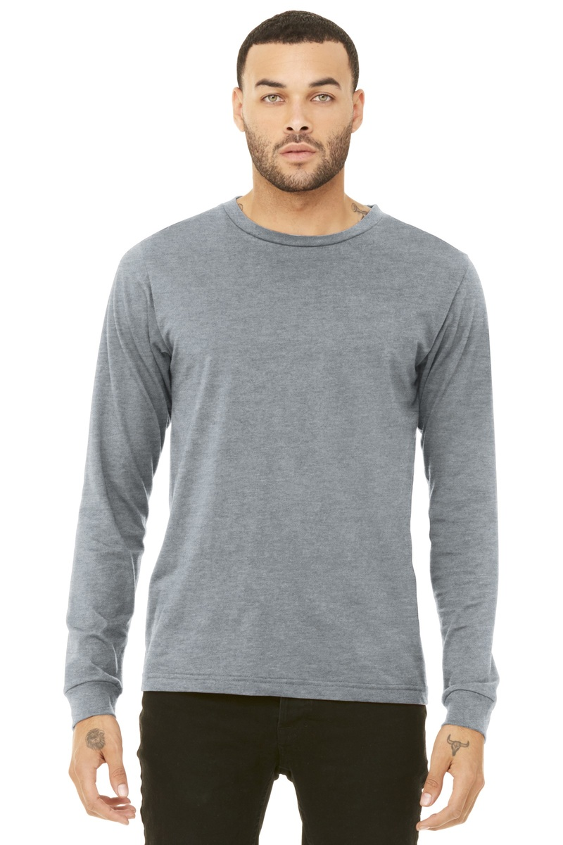 Bella+Canvas Embroidered Men's Long Sleeve Tee