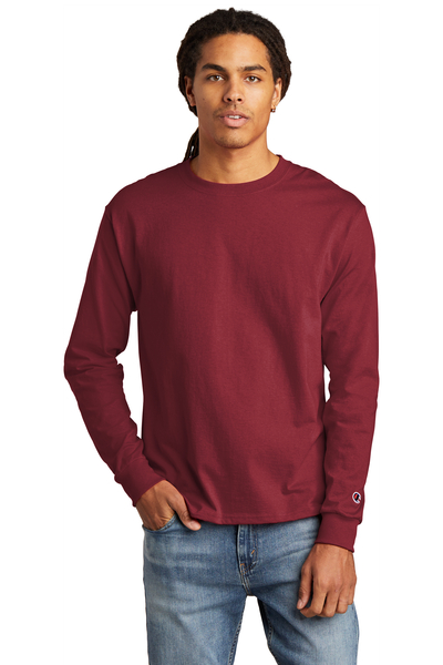 Champion Embroidered Men's Heritage 5.2-Oz. Jersey Long Sleeve Tee