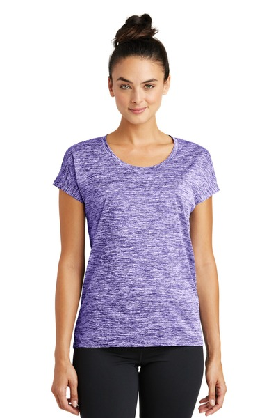 Sport-Tek Embroidered Women's PosiCharge Electric Heather Sporty Tee