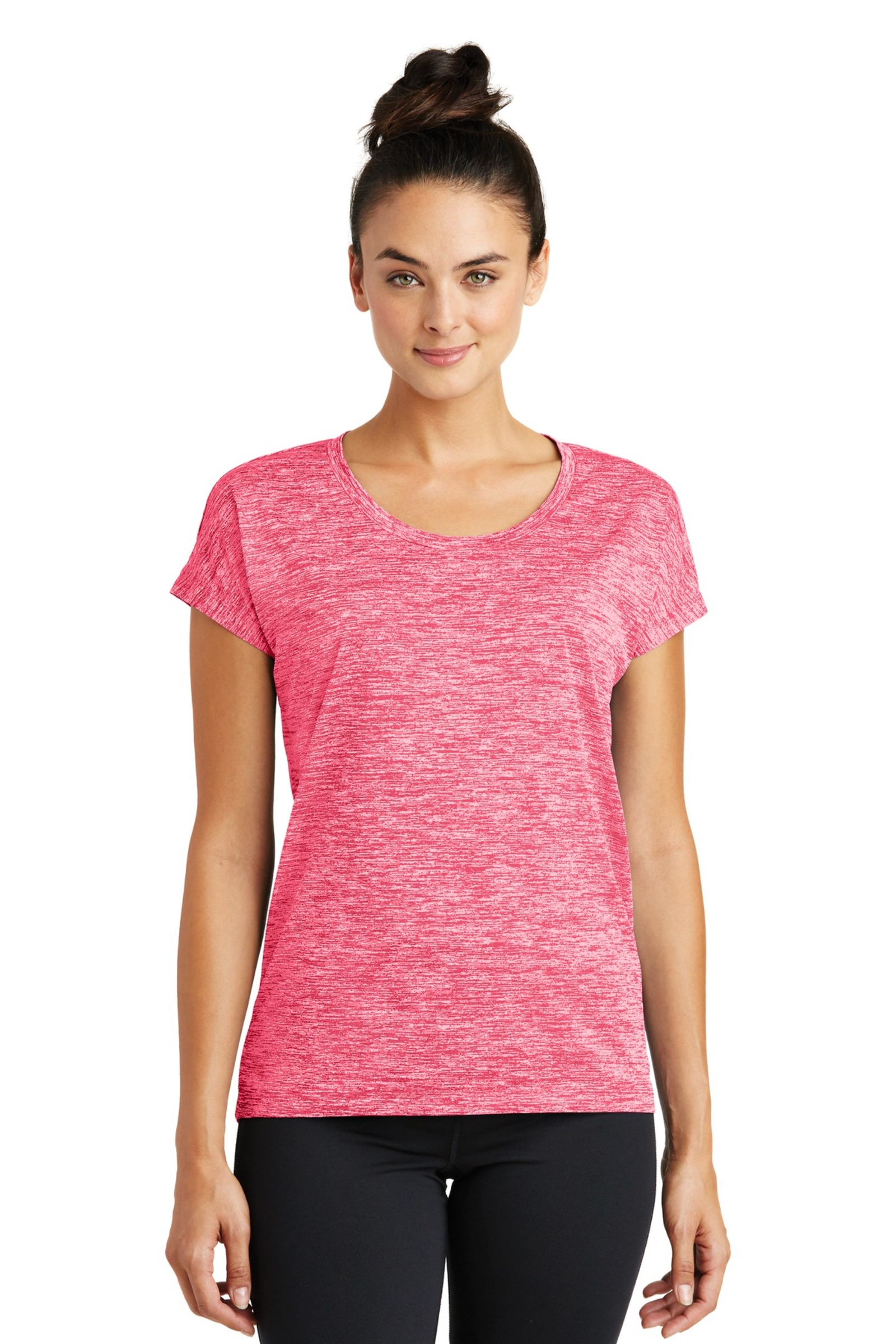Sport-Tek Printed Women's PosiCharge Electric Heather Tee
