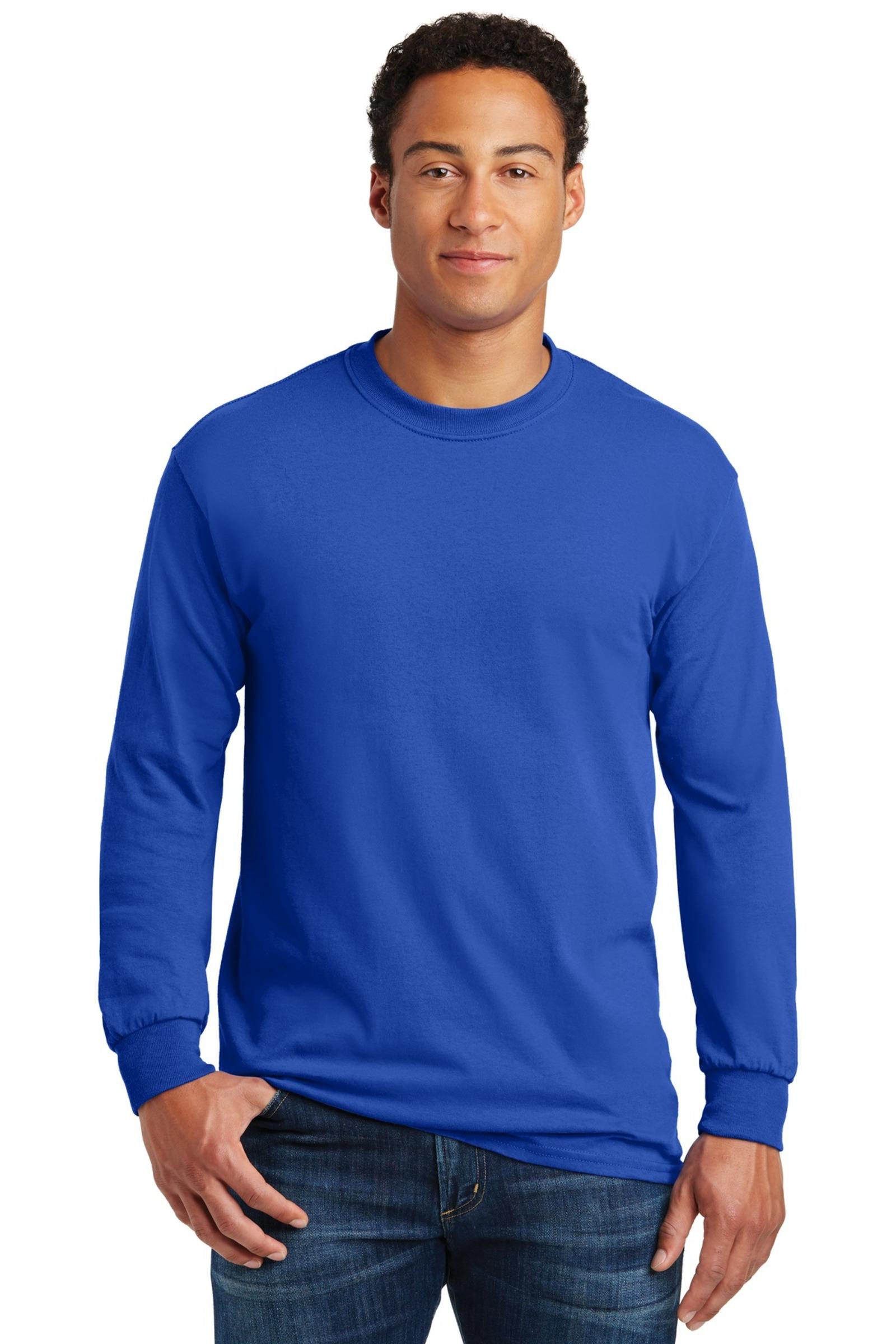 Gildan Embroidered Men's Heavy Cotton 100% Cotton Long Sleeve T-Shirt