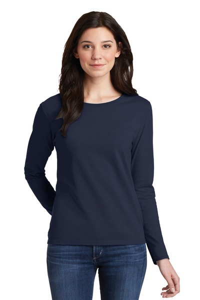 Gildan Printed Women's 100% Heavy Cotton Long Sleeve T-Shirt