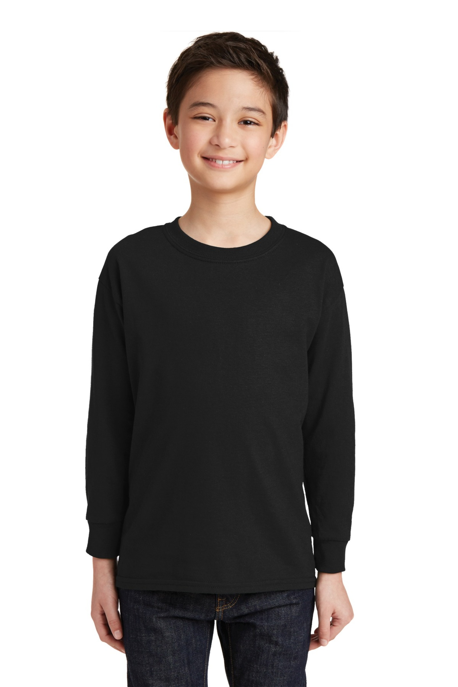 Gildan Embroidered Youth 100%  Heavy Cotton Long Sleeve T-Shirt