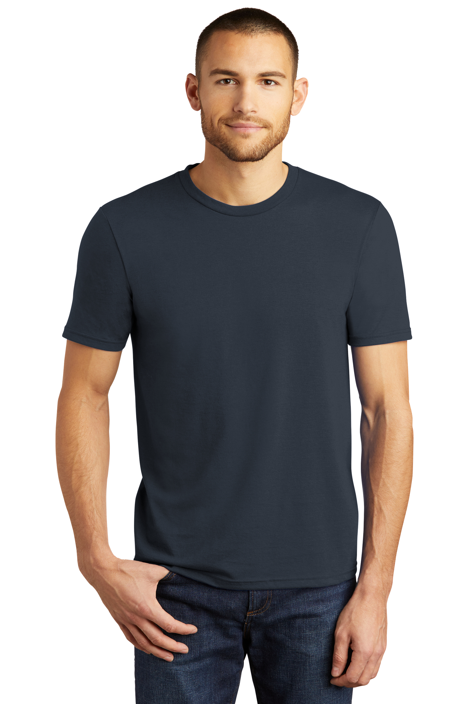 District Embroidered Men's Perfect Tri-Blend Crew Tee