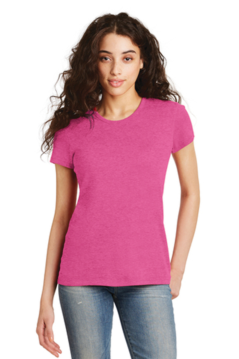 District Printed Women's Perfect TriBlend Tee - Single Color Logo