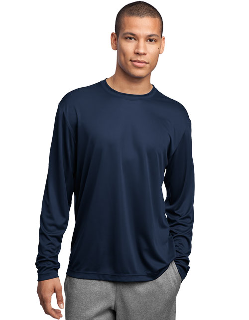 Sport-Tek Printed Men's Long Sleeve Competitor Tee