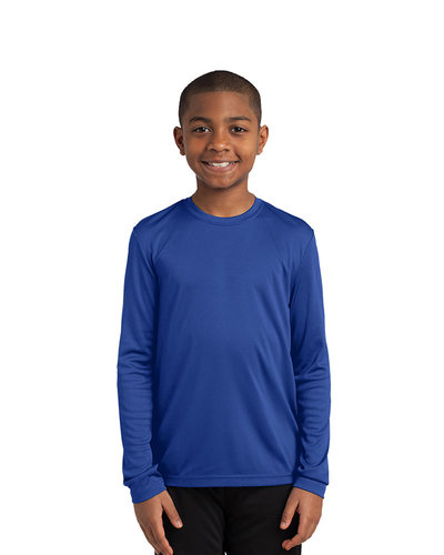 Sport-Tek Printed Youth Long Sleeve Competitor Tee