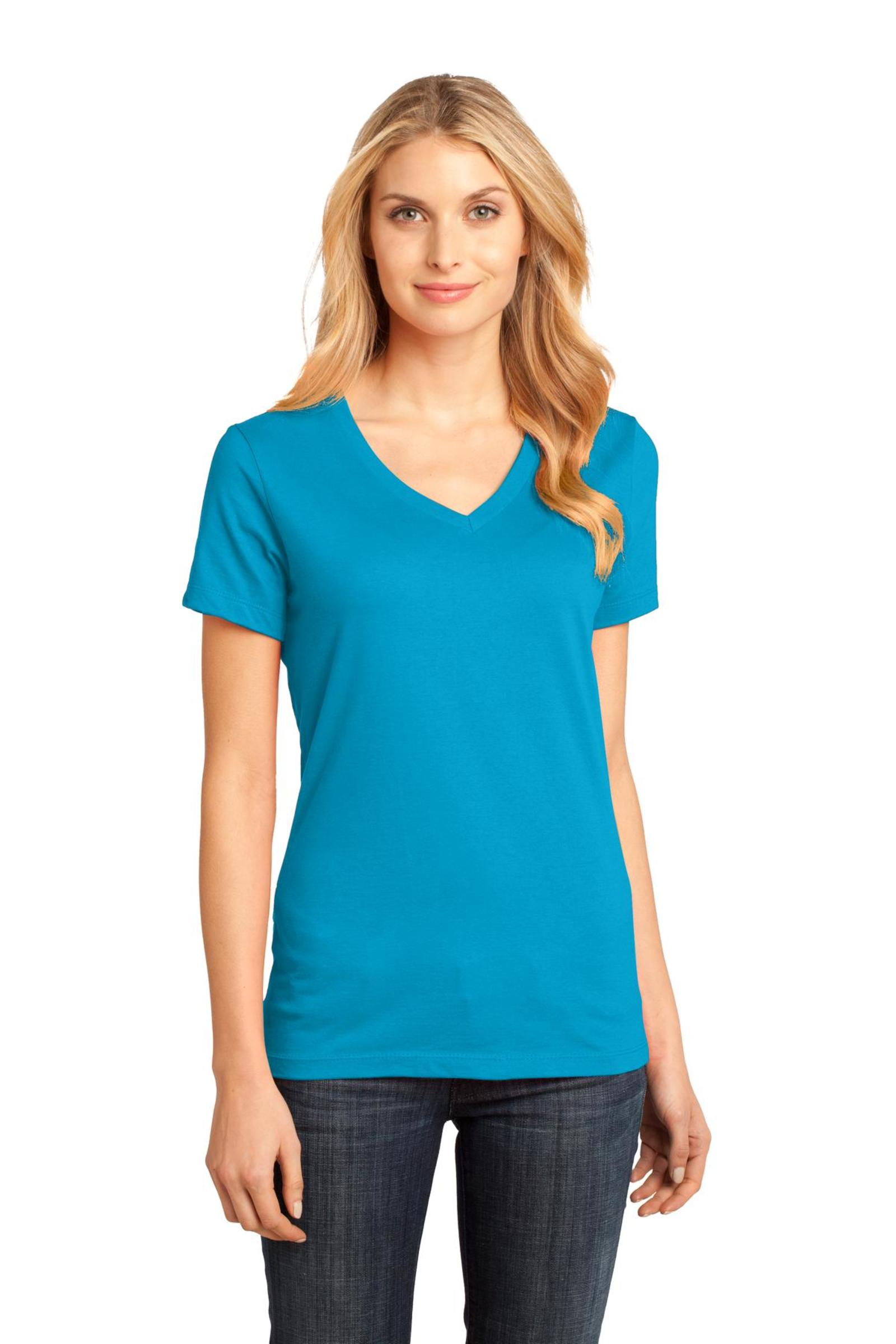 District Embroidered Women's Perfect Weight V-Neck Tee