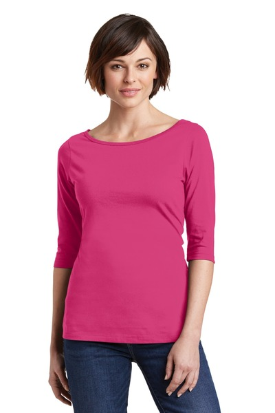 District Embroidered Women's Perfect Weight 3/4-Sleeve Tee