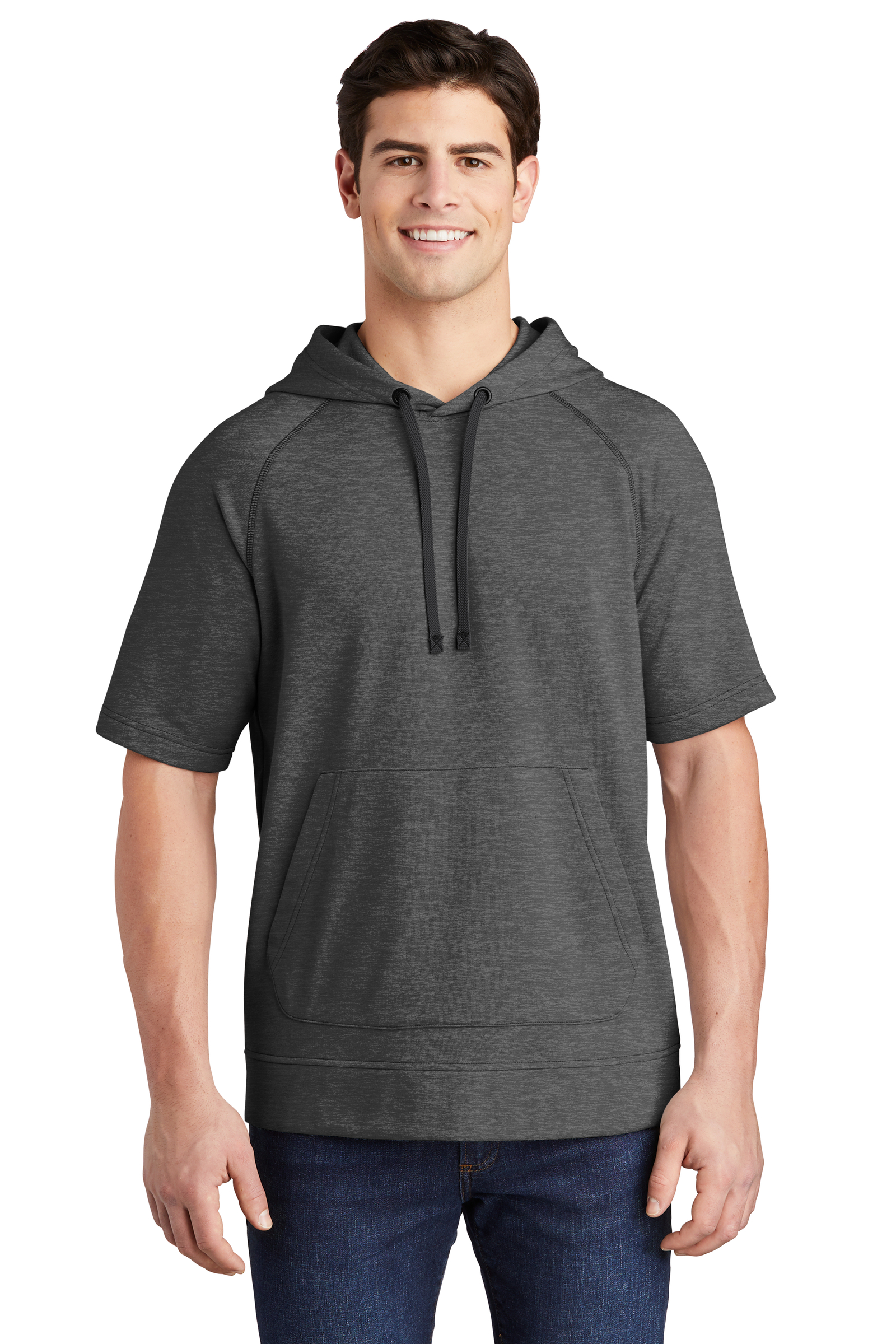 Sport-Tek Embroidered Men's Tri-Blend Short Sleeve Hoodie