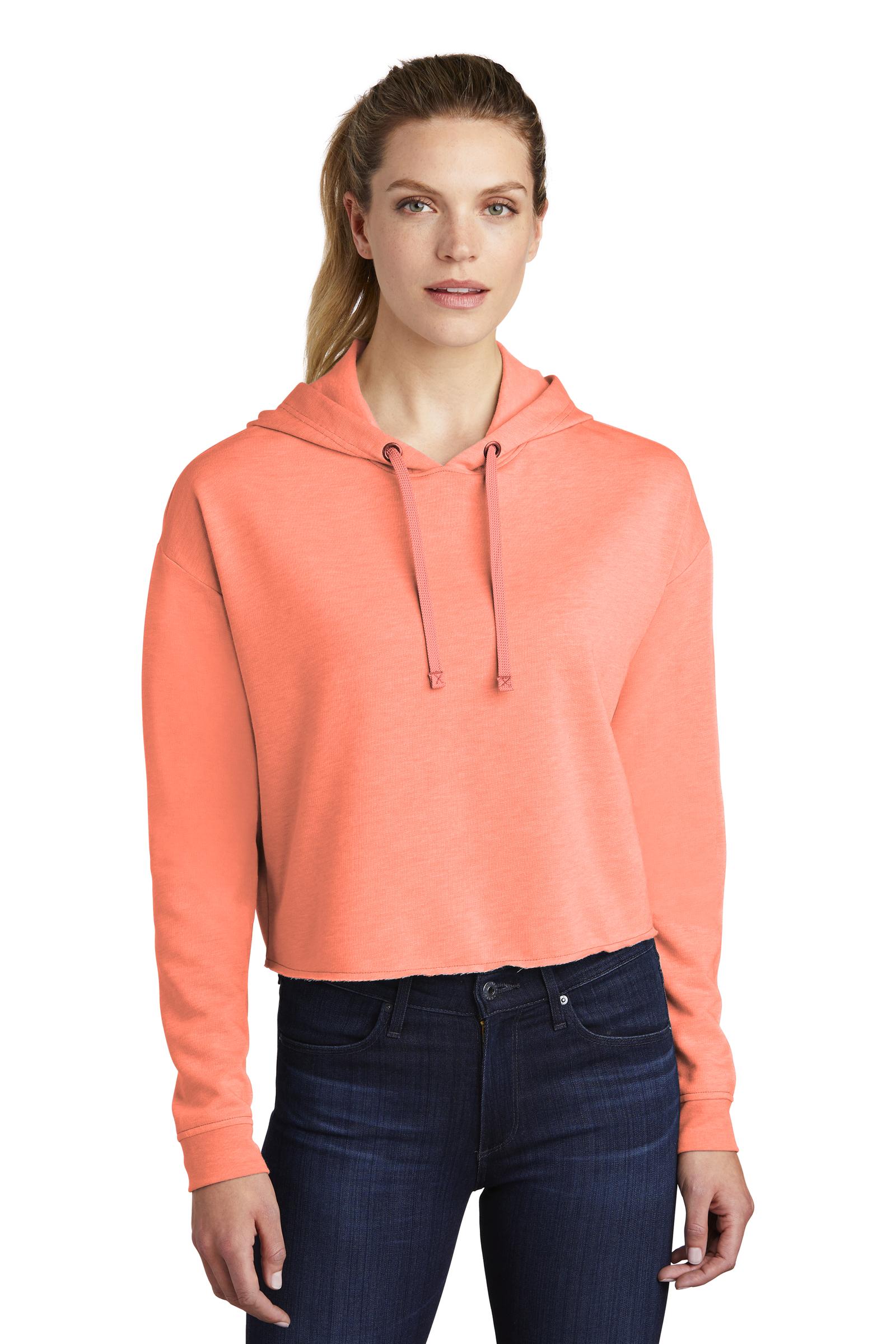 Sport-Tek Embroidered Women's Tri-Blend Wicking Fleece Crop Hoodie