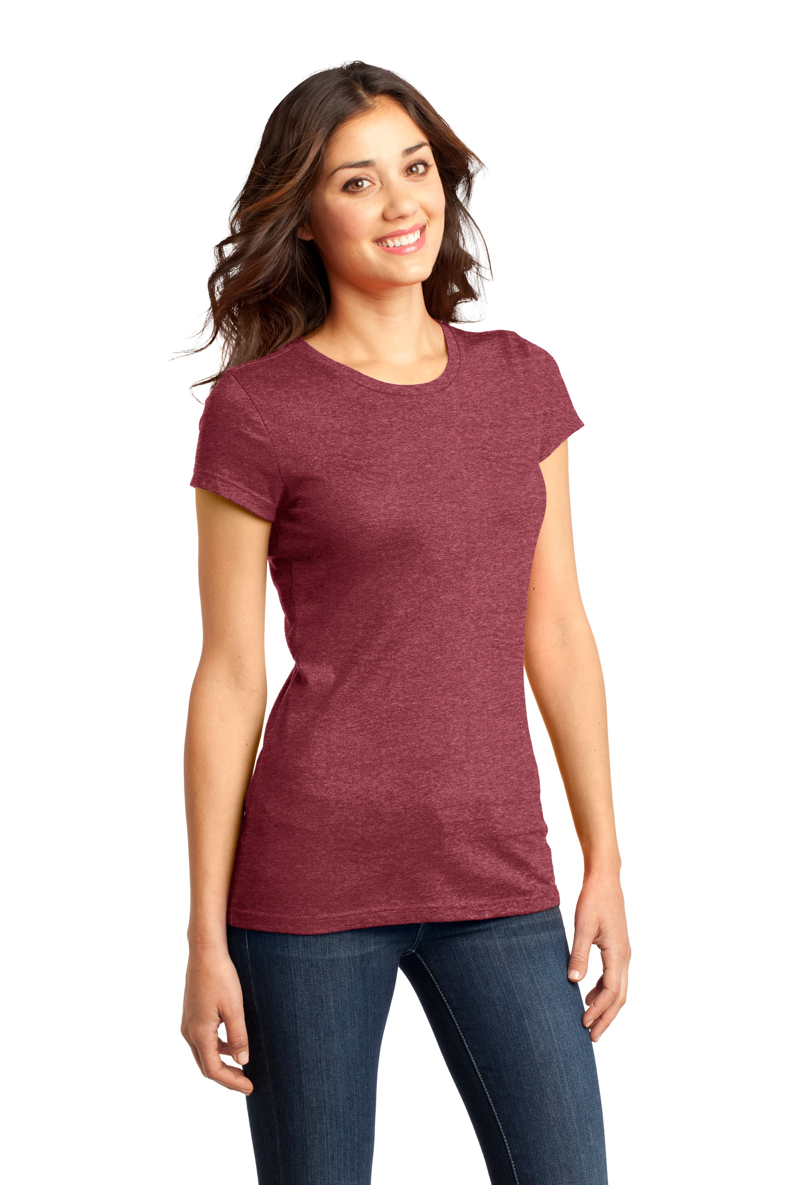 District Embroidered Women's Fitted Very Important Tee