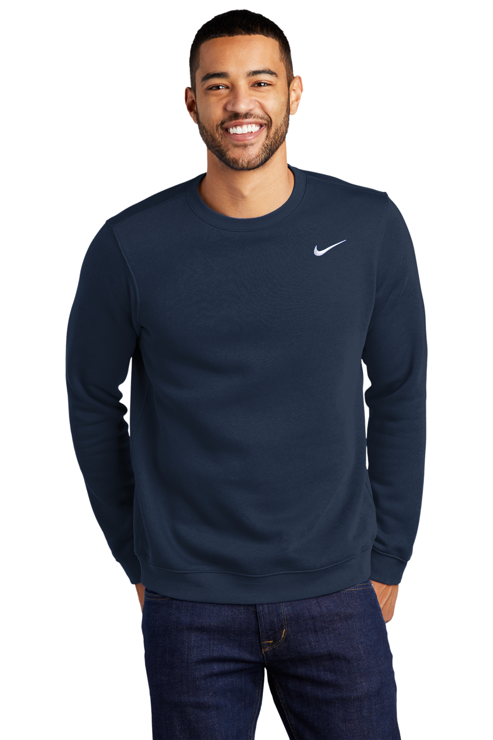 Nike Embroidered Men's Club Fleece Crew