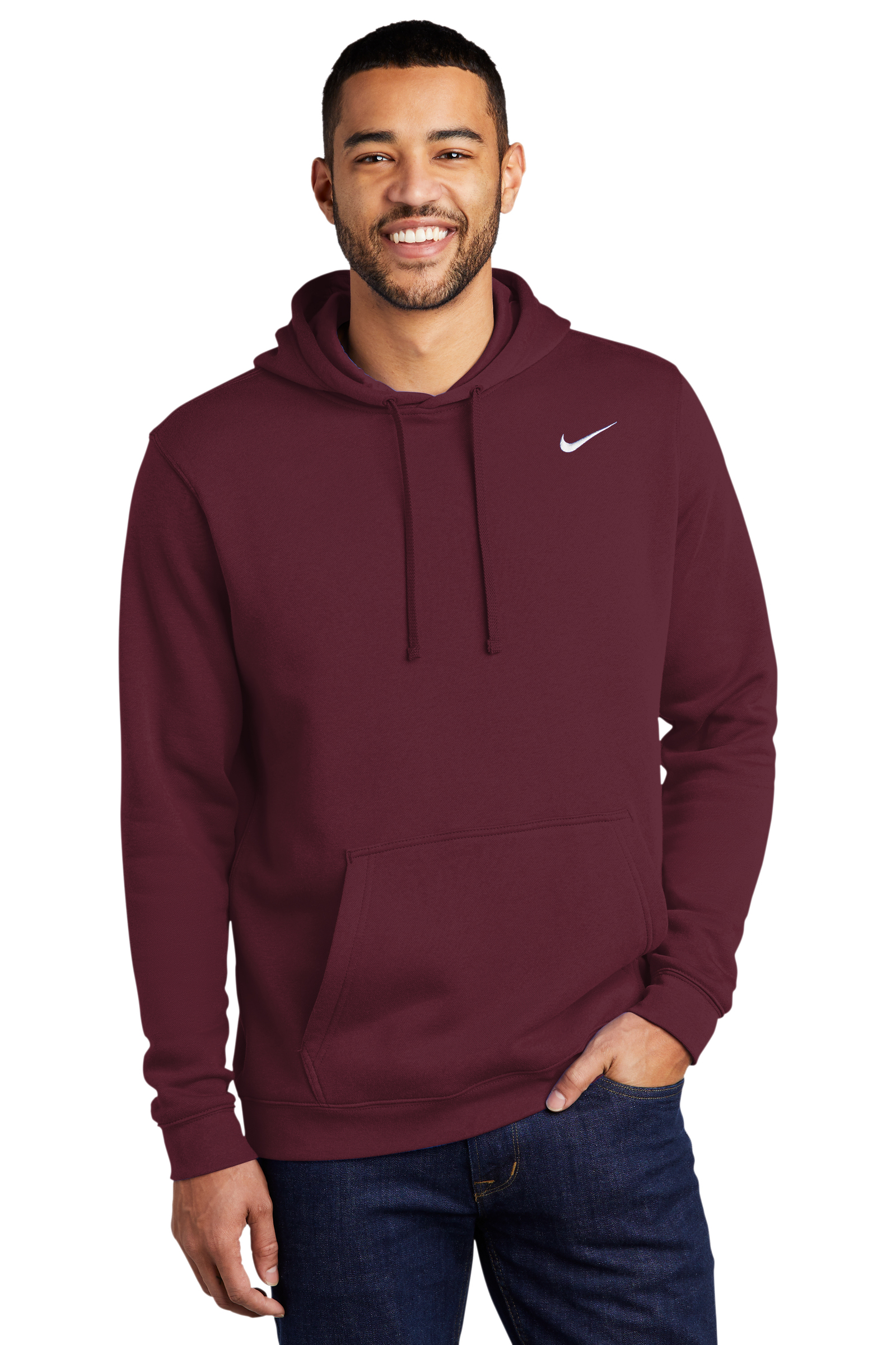 Nike Embroidered Men's Club Fleece Pullover Hoodie