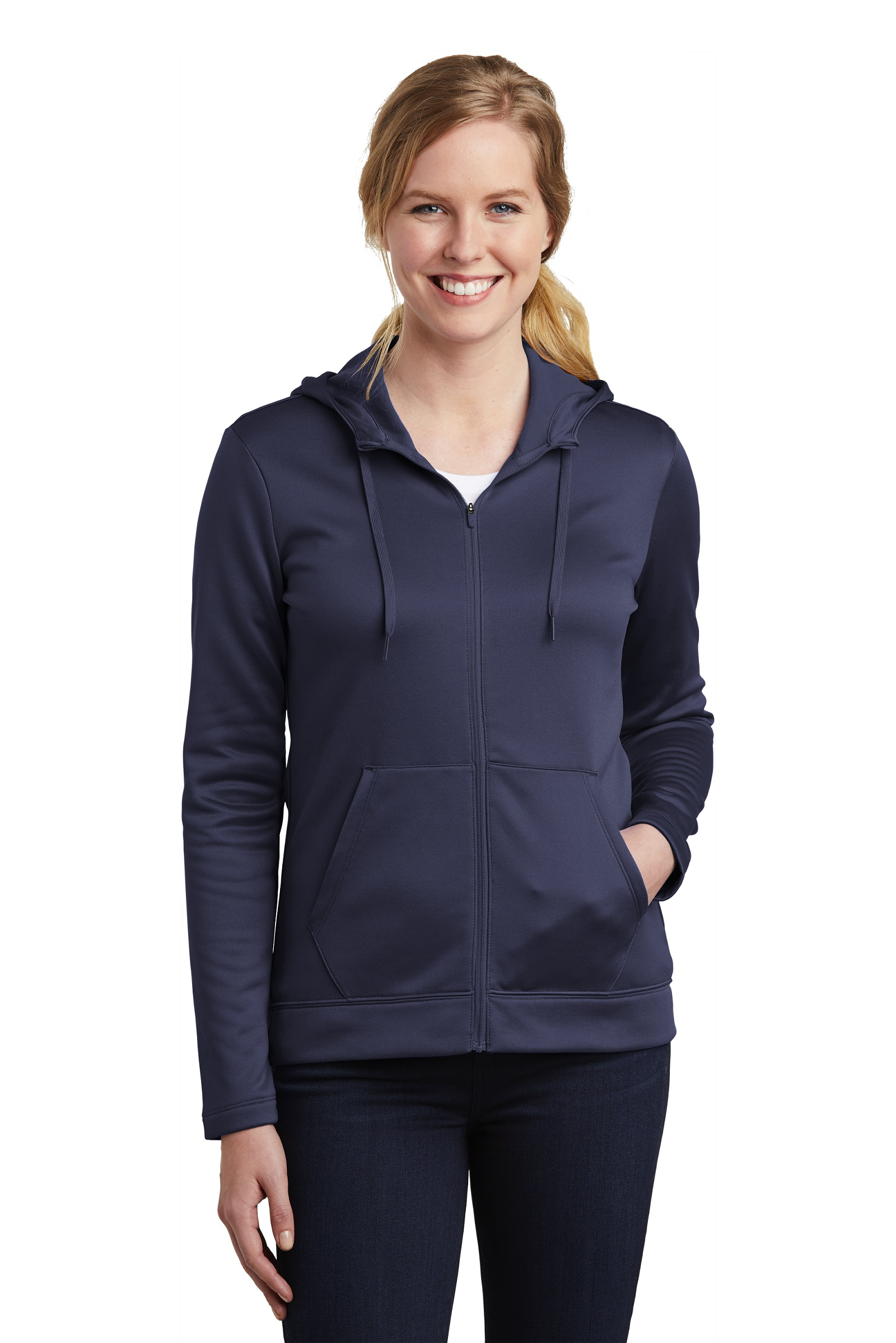 Nike Embroidered Women's Therma-FIT Full-Zip Fleece Hoodie