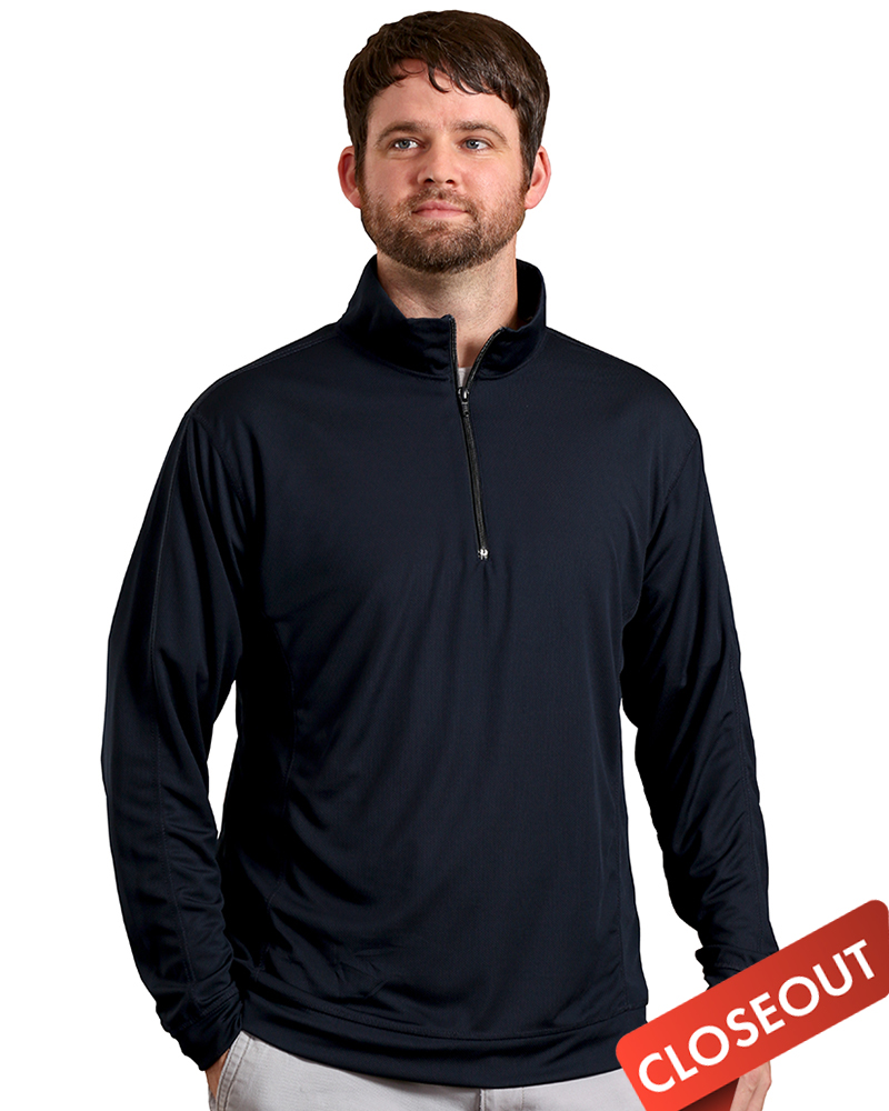 Queensboro Embroidered Men's LIFT Performance 1/4 Zip Pullover
