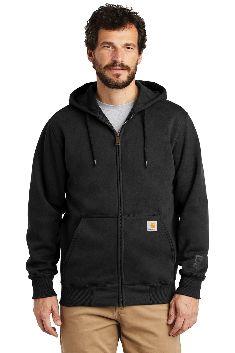 4ed524614 Carhartt Embroidered Paxton Rain Defender Hooded Zip Sweatshirt