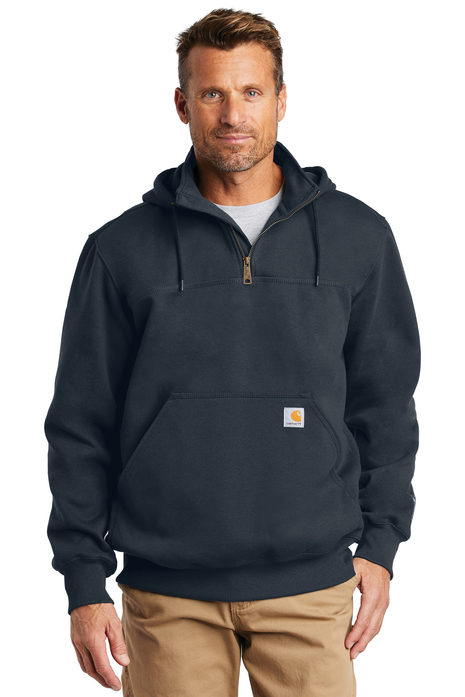 Carhartt Embroidered Rain Defender Paxton Heavyweight Hooded Sweatshirt