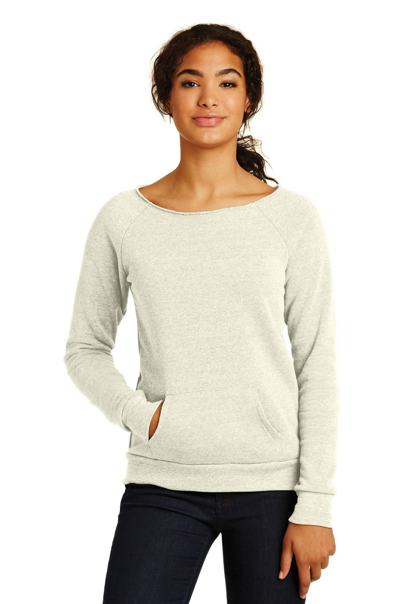 Alternative Printed Women's Off the Shoulder Eco-Fleece Sweatshirt