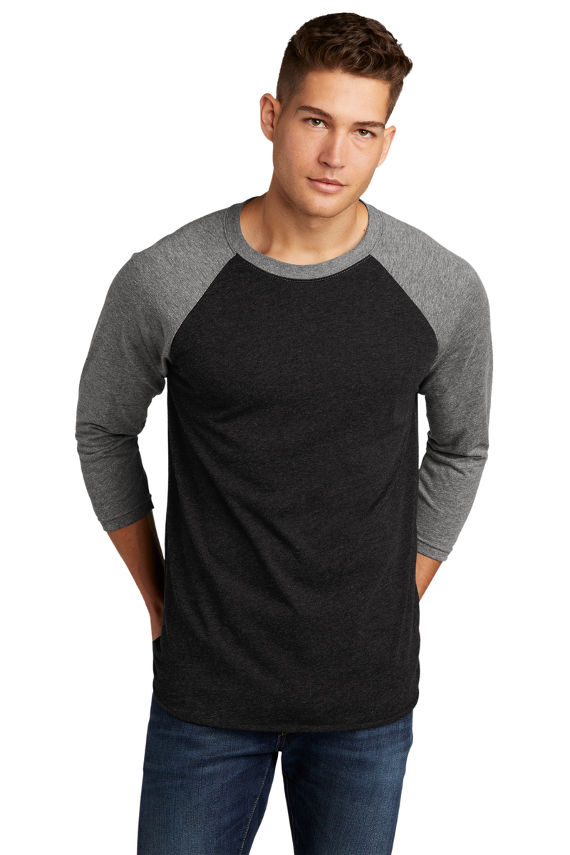 Next Level Embroidered Men's Triblend 3/4 Sleeve Raglan