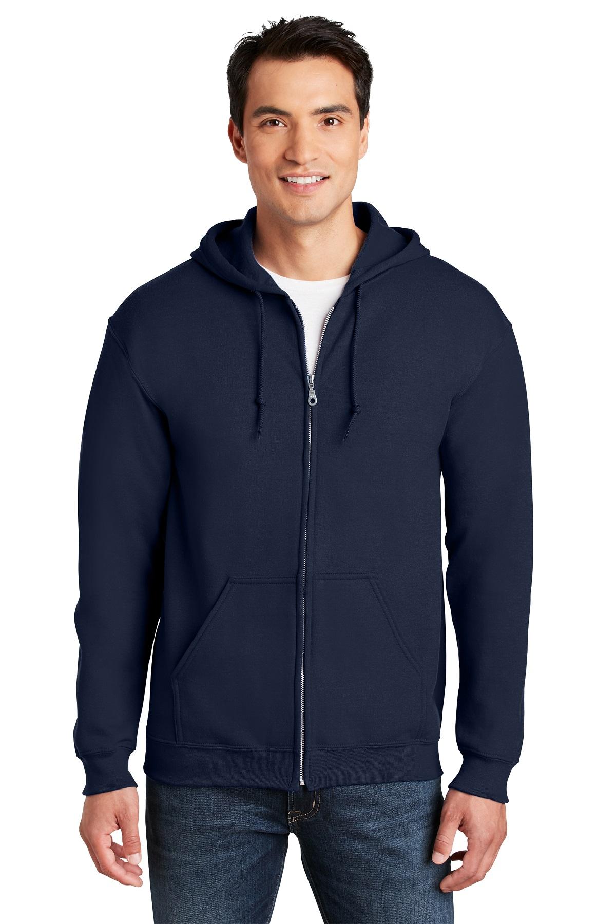 Gildan Embroidered Men's Full Zip Hooded Sweatshirt