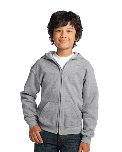 Gildan Embroidered Youth Full Zip Hooded Sweatshirt