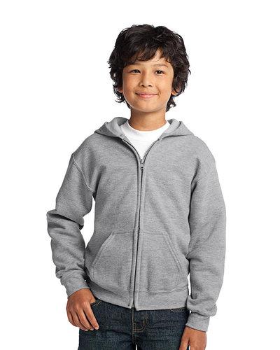 Gildan Printed Youth Full Zip Hooded Sweatshirt