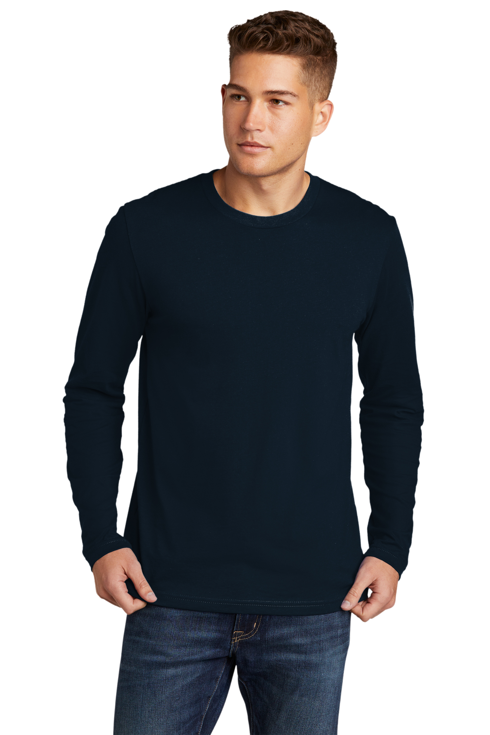 Next Level Embroidered Men's Cotton Long Sleeve Tee