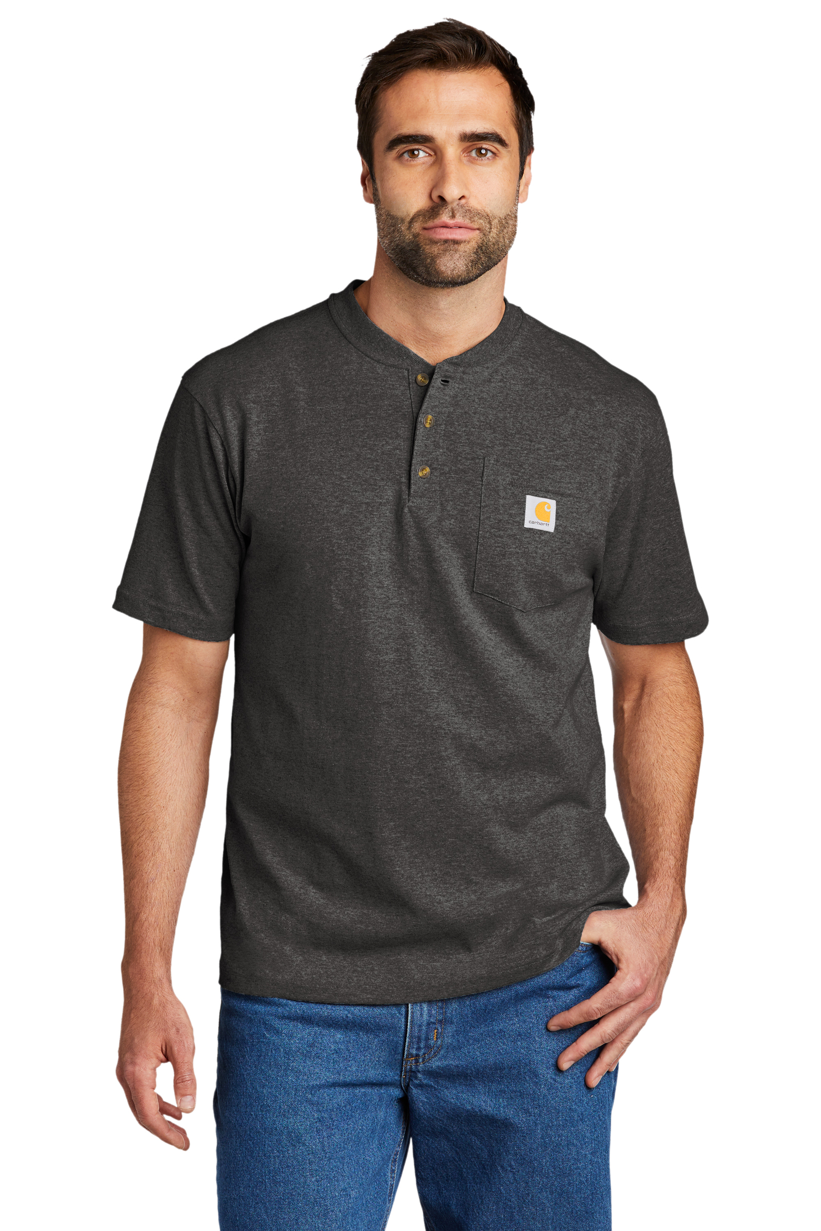 Carhartt Embroidered Men's Short Sleeve Henley T-Shirt