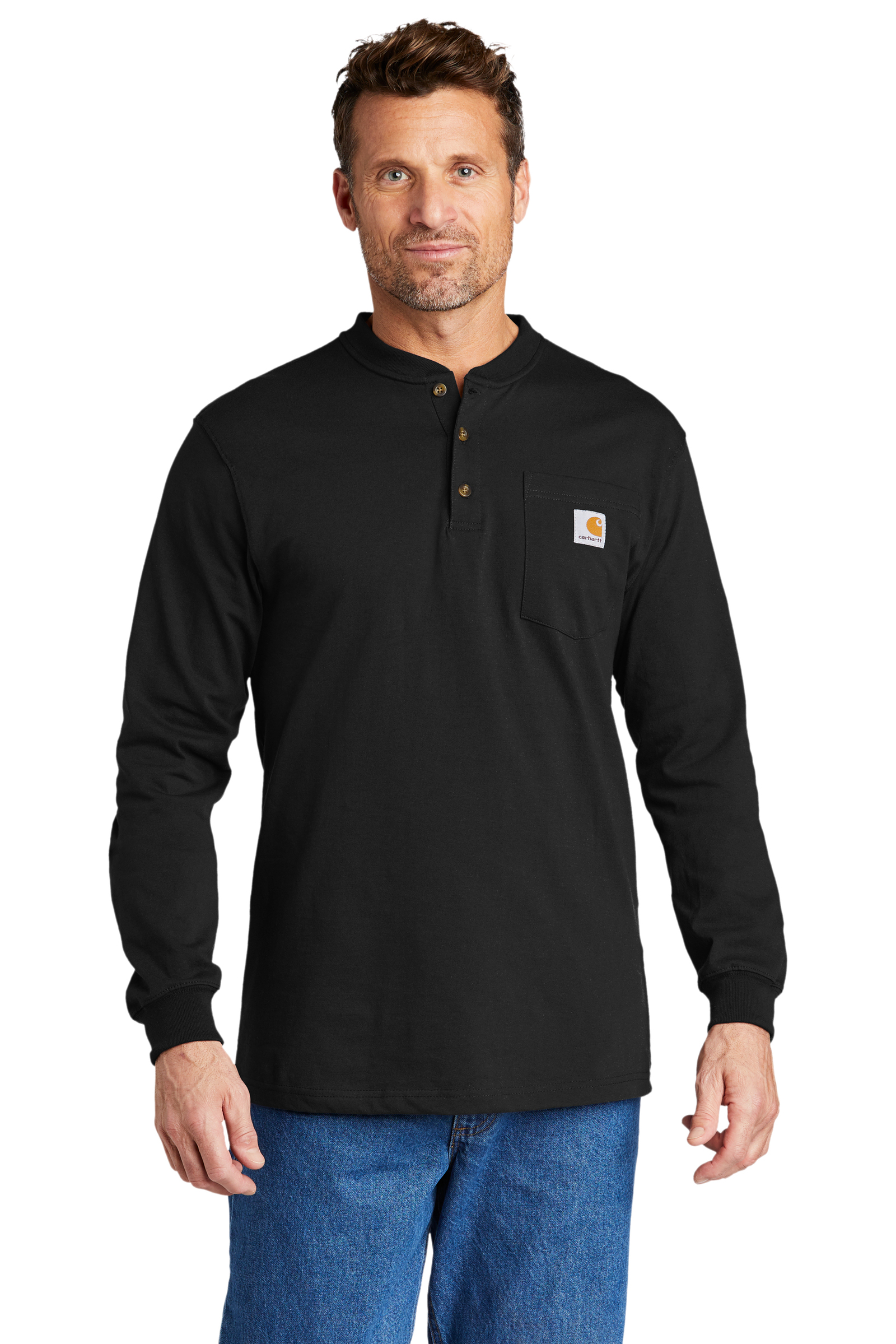 Carhartt Embroidered Men's Long Sleeve Henley T-Shirt