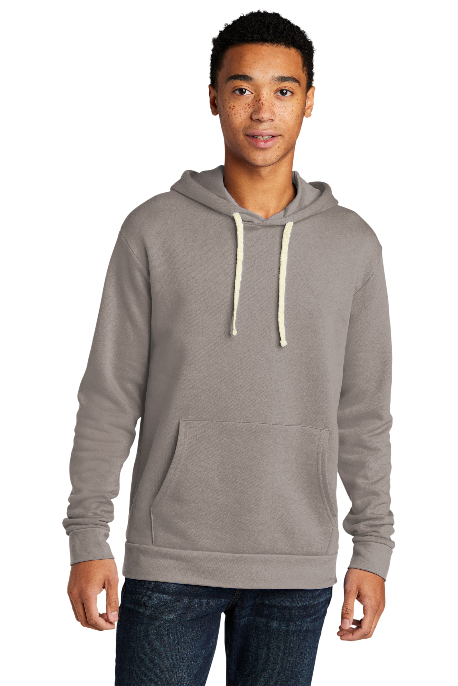 Next Level Embroidered Men's Beach Fleece Pullover Hoodie