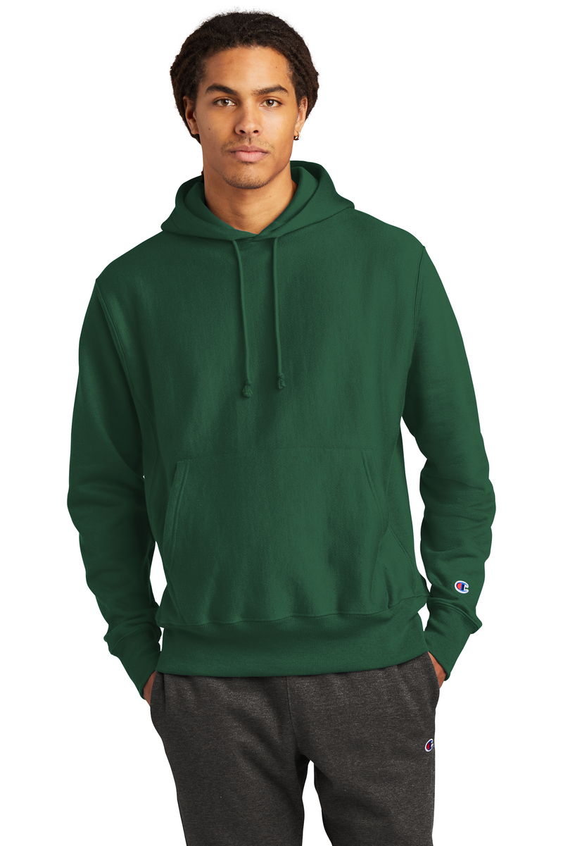 Champion Embroidered Men's Reverse Weave Hooded Sweatshirt