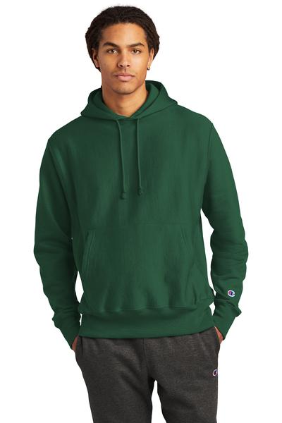 Champion Embroidered Men's Reverse Weave Hooded Sweatshirt